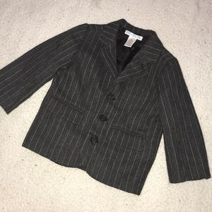 Janie and Jack sport coat grey with pinstripes